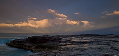 bombo beach (jiggy!) Tags: ocean clouds rocks kiama urvision