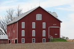 Shuttered window barn (David Sebben) Tags: red barn illinois andover shutters 1876