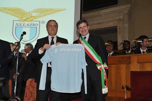 La  S.S.Lazio in Campidoglio