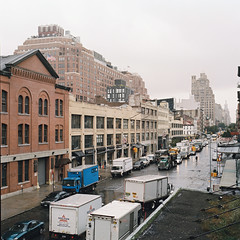 A view from the High Line ~ New York City (peterlfrench) Tags: park nyc newyorkcity urban newyork green fall rollei rolleiflex october urbanism 2009 highline reclaimed redevelopment urbanpark linearpark thehighline peterfrench urbangreenspace rolleiflexslx pfrench99 plnz livingurbanism newyorkshighline pf2298s10019