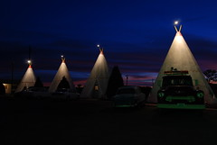 Cement wigwams for rent at the Wigwam Motel, Holbrook, Arizona