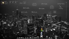 Desktop Noviembre 2009 (erKURITA) Tags: desktop windows wallpaper blackandwhite chicago dock wg rainmeter rocketdock bitelia windows7 escritoriosbitelicos stackdocklet hudvision lucidwhite