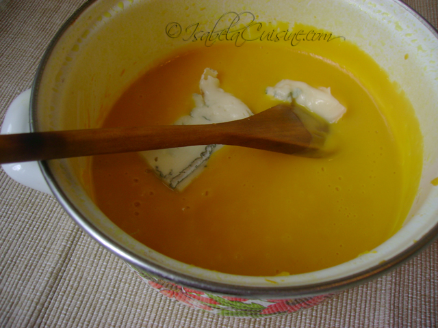 Butternut Soup & Gorgonzola