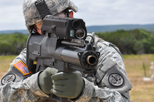 Testing the new XM-25 weapon system