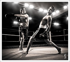 Knock Out (Severin Sadjina) Tags: lighting light people sports ko knockout punch boxing flashes strobes strobist 5dmarkii