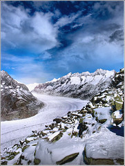 In extinction... (Jean-Michel Priaux) Tags: blue winter sky snow alps cold ice nature rock clouds photoshop montagne alpes canon season landscape bure hiver memories dream pic grace dreaming glacier bleu ciel future neige g3 nuage paysage alp froid montain pur glace montains anotherworld savage sauvage sommet climat puret priaux vanagram vosplusbellesphotos
