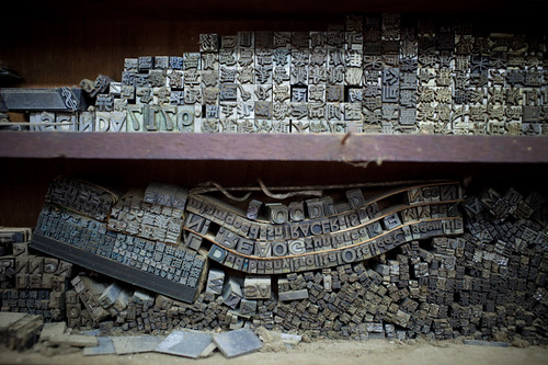 Metal type sorts. Wing Lee Street 永利街 | Flickr - Photo Sharing!