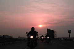 Sunrise riders (saish746) Tags: show sunset red sun moon india white flower london car childhood yellow set illustration pencil sunrise vintage garden zoo al flora dubai chimp kali cab air muslim islam bangalore egg uae balck stonehenge muharram bomb khaima ras puja begger aero bookmark array 2012 pondicherry bihar sharan patna saurabh 2013 saish motihari saish746