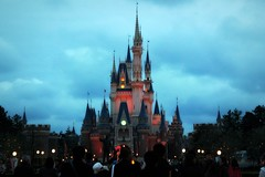 The Castle in Tokyo Disneyland in the evening, Japan (Hopeisland) Tags: castle japan tokyo disneyland