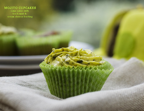 Virgin Mojito cupcake recipe fresh mint caipirinha lime juice