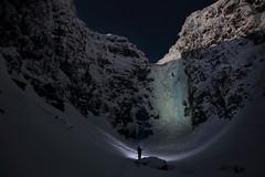 Selfie at Njupeskar waterfall (gallserud) Tags: njupeskar waterfall sweden vattenfall winter night dalarna moon fullmoon stars