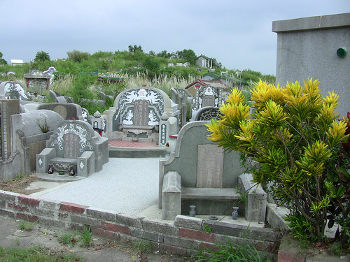 Chinese graveyard cemetry