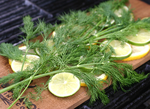 Optional to throw on some dill - we thought this would have had more flavor if we used it after grilling on top.