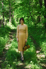 Mysterious Road (strawberrykoi) Tags: vintage dress lace moviestar 70s payless tstraps doctorbag strawberrykoi