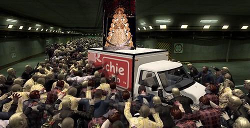 Ataque zombie a la virgen del rocío
