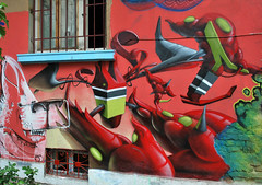 Xce Sofia 09 (Fat Heat .hu) Tags: red green mos graffiti 3d spray spraypaint cfs meetingofstyles coloredeffects