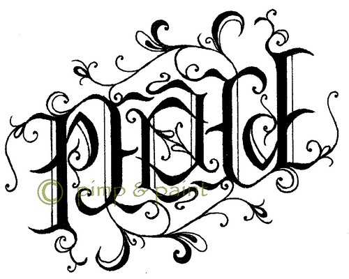 peace ambigram w copyright rs