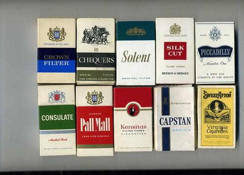 Brands Of Cigarettes. UK Cigarette Brands,