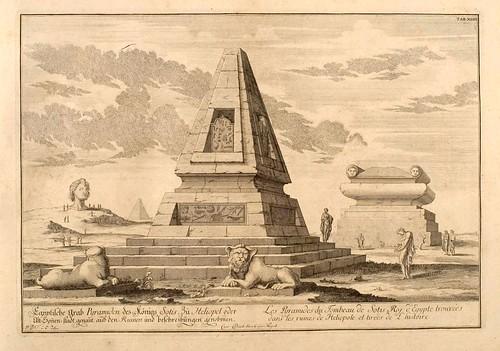 008-Piramides de la tumba de Sotis rey de Egipto-Entwurf einer historischen Architektur 1721- © Universitätsbibliothek Heidelberg