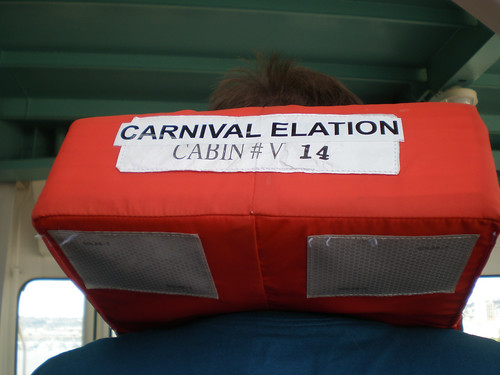 Carnival Elation Muster Drill - Cabin-specific Lifejackets