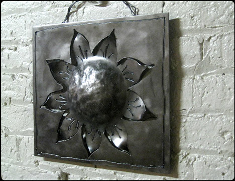 Wallflower Outdoor Metal Wall Art