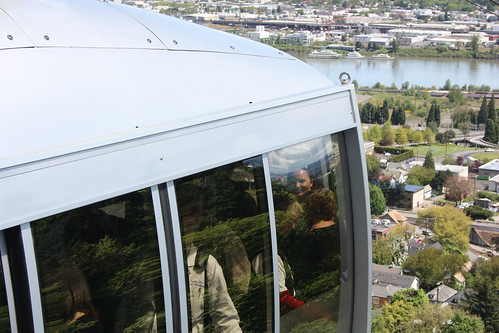 Fiona on the Portland Aerial Tram