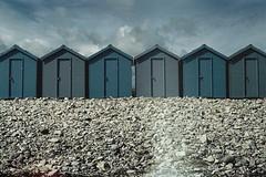 dorset (chrrristine) Tags: travel coast lightleak dorset beachhuts pentaxme