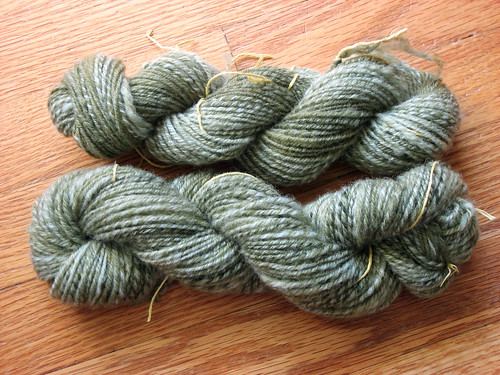 Two skeins of cormo