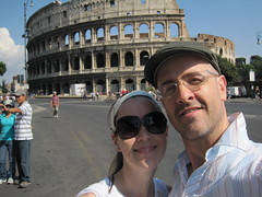 self portrait at Colosseum