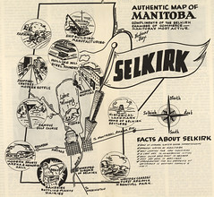 Authentic Map of Manitoba Compliments of the Selkirk Chamber of Commerce (1957) (Manitoba Historical Maps) Tags: history maps manitoba selkirk cartographymanitobahistory