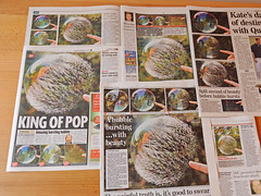 My Day of Fame (Monday 13th July 2009) (richard.heeks) Tags: sun news soap newspapers bubbles pop independent richard bubble times express press explode implode heeks