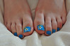 Nail Art (Artistic Feet) Tags: blue flower cute sexy art feet photography toes nail barefoot daisy pedicure paining
