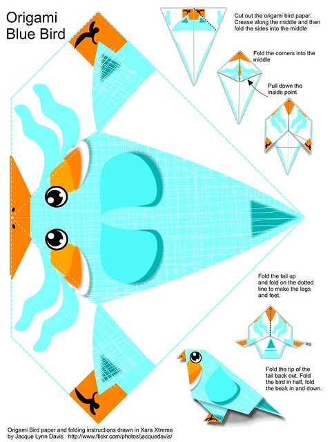 INSTRUCTIONS FOR ORIGAMI BIRD