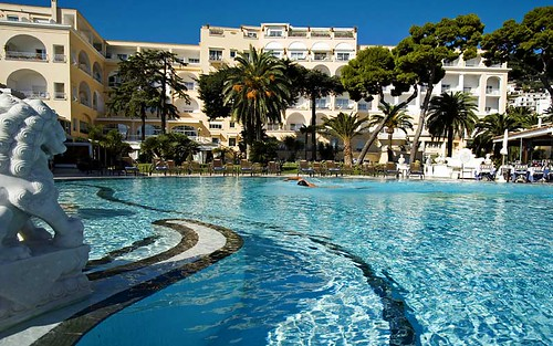 Grand Hotel Quisisana, Capri, Italy, Swimming Pool by Capri Island.