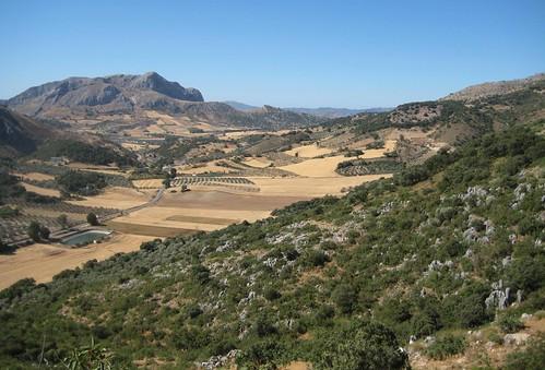 La comarca de la Axarquía en el sur