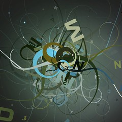tentacles.16 (mark knol) Tags: flowers blue abstract green art dark mark flash curls tribal generative swirl generated tentacles actionscript knol twirls as3 markknol
