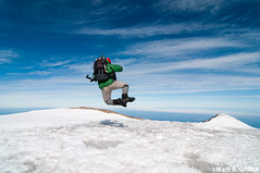 Heel Clicking on Top of Rainier