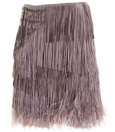 ALESSANDRO DELL´ACQUA SS2009  Fringed skirt5