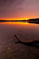Sunrise Over Snowshoe (Bryan O'Toole) Tags: longexposure lake ontario canada water nikon scenic cpf manfrotto northernontario waterscape algoma gnd nd8 nikond80 snowshoecamp lakewakomata wakomatalake kenkopro1dnd8 nikkor1024mmdx cokin2stopgnd kenkopro1dcp