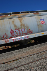 Left on UP (All Seeing) Tags: up graffiti unionpacific allseeing uprr ase twb monikers
