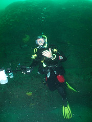 Chrisatcrabsback (damoj5) Tags: diving kilkee inon fujif40
