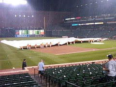 First rainout at Camden Yards