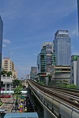 View from Chit Lom BTS Skytrain station in Bangkok (UweBKK ( 77 on )) Tags: city urban thailand asia bangkok capital southeast skytrain bts chitlom totallythailand