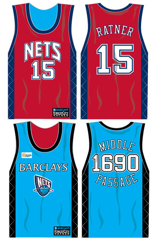 Nets reversible jersey -- Barclays by you.