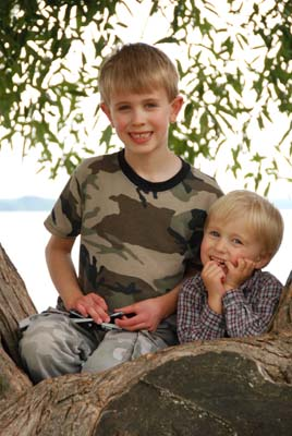 boys in bayfield tree