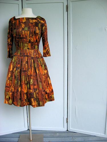 L'Aiglon cityscape print dress