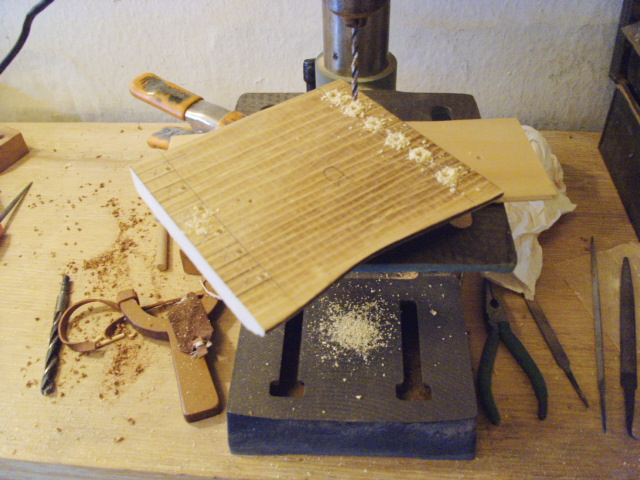 Drilling Manuevering Holes for the Scroll Saw