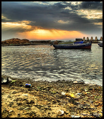 Rays of the Sunset ! (Bashar Shglila) Tags: sunset sea sun clouds marina boat fishing sony rays sands libya libyen   lbia  libi abigfave   libiya liviya  libija platinumheartaward  hx1  thepowerofnow   lbija  lby libja lbya liiba livi     gasreiyah