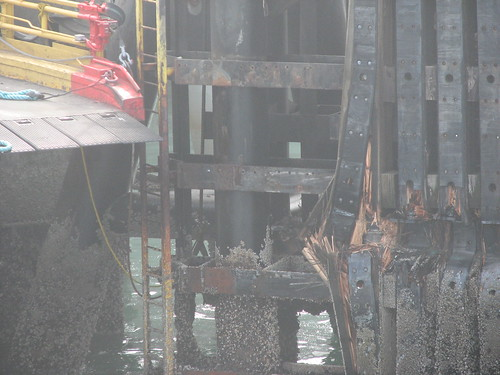 Seattle Ferry Terminal Collision Damage