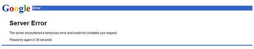 google server error 9-1-2009